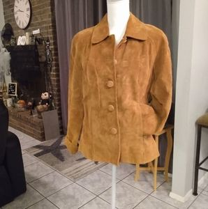 Vintage Preston of York tan suede jacket
